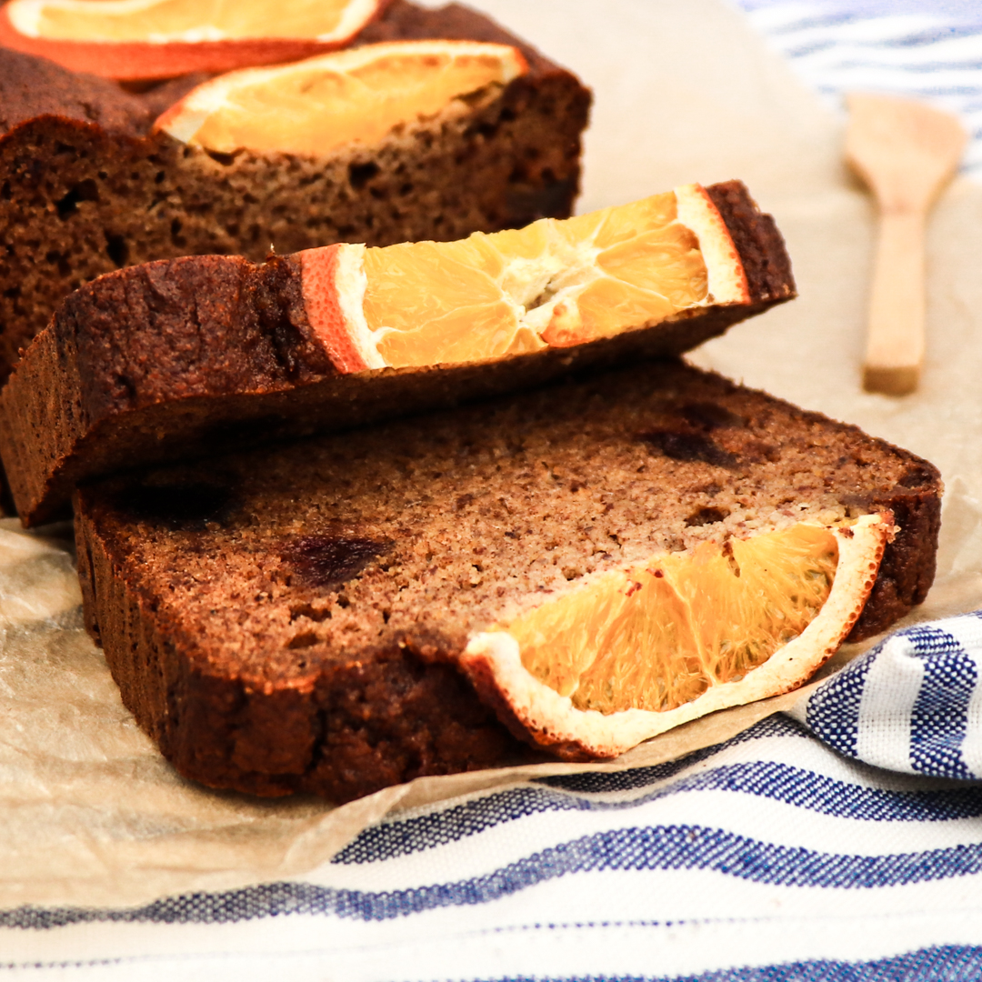 paleo orange date bread // feastofgreen.com