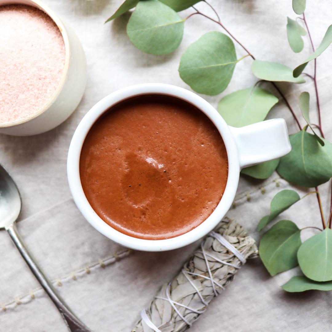 cacao and coffee morning elixir // feastofgreen.com