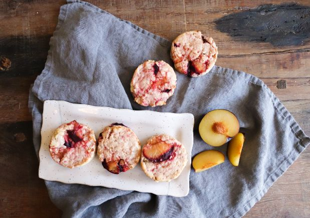 Balsamic Roasted Plum Scones and a Plum Clafoutis