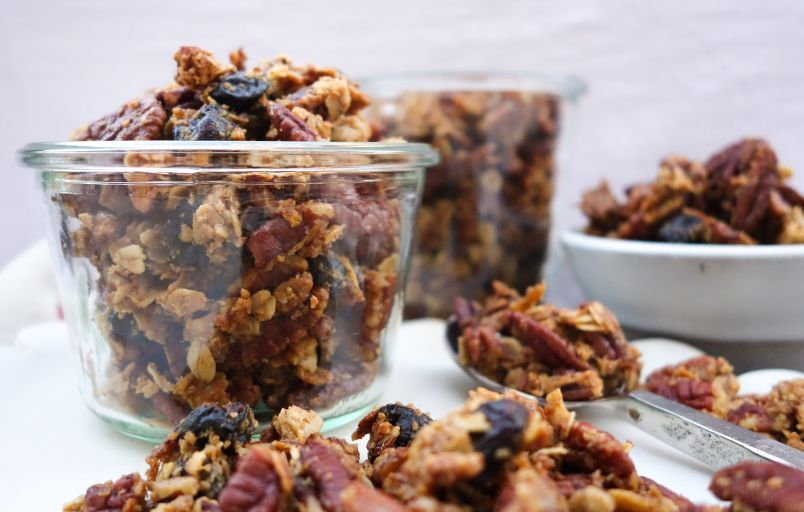 Christmas Granola with Brown Butter, Orange, and Pecans
