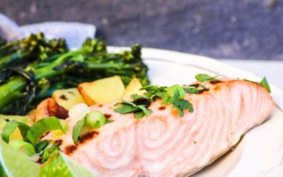 Coconut Broiled Salmon with Fresh Herbs