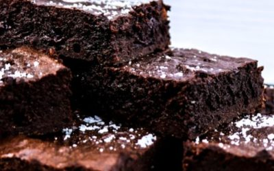 Fudgy Sunbutter Brownies with Sea Salt