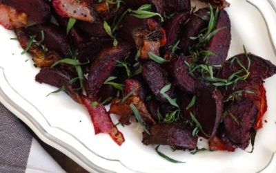 Mustard and Tarragon Roasted Beets