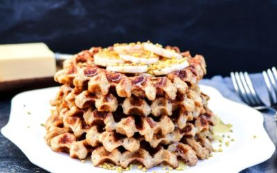 Spiced Oat Waffles
