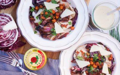 Warm Radicchio Salad with Lemon Anchovy Dressing