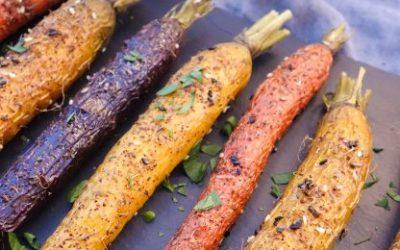 Za'atar Roasted Carrots with Yogurt