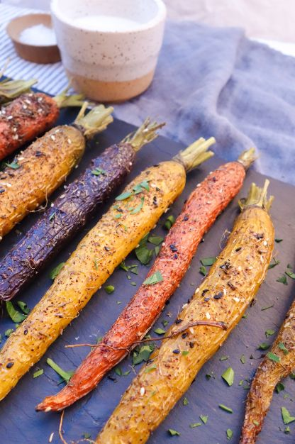 Za'atar Roasted Carrots with Yogurt